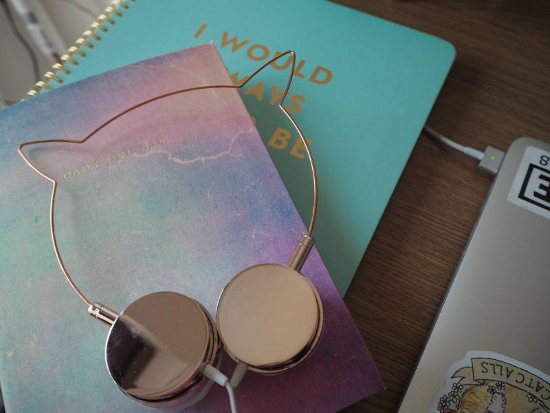 Freelance Mondays - Ohh Deer rainbow daily journal and Skinnydip Zara Martin headphones