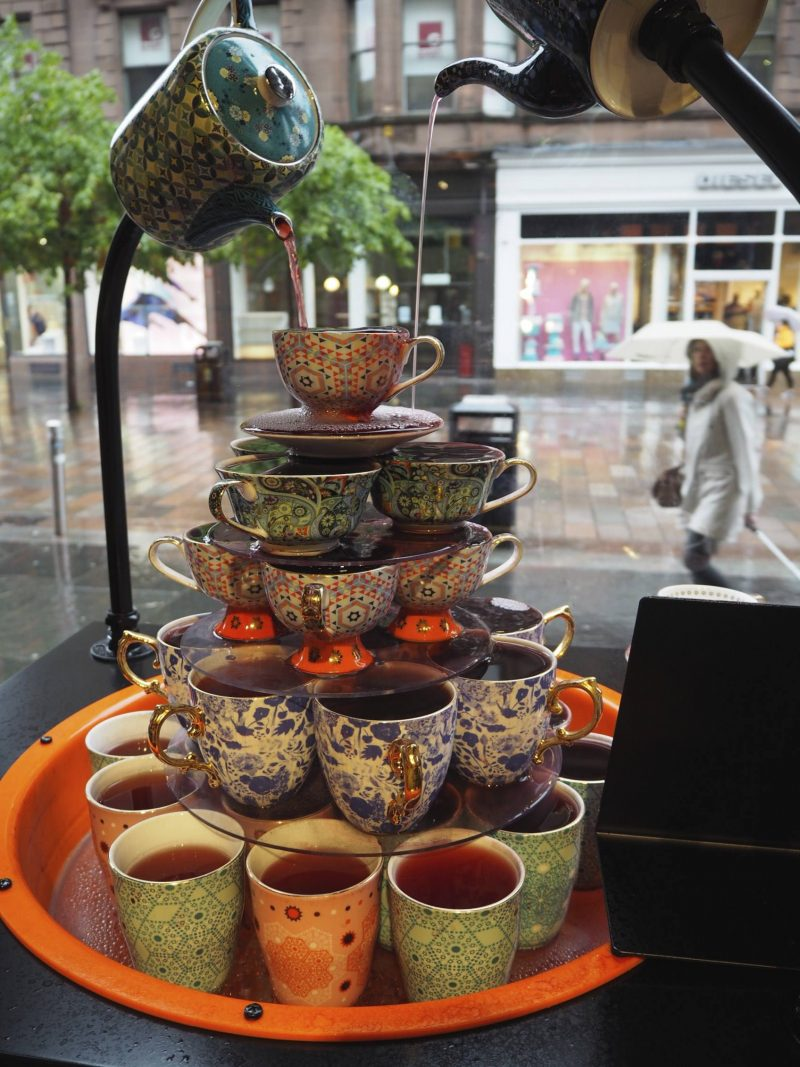T2 Glasgow tea shop review - the tea fountain