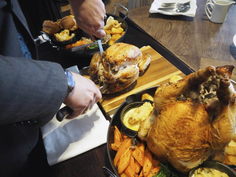 Sunday roast at the Blythswood Square Hotel
