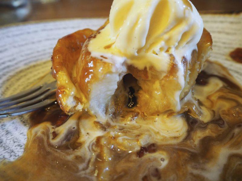 Badger & Co - Edinburgh restaurant review - upside down apple pie dessert