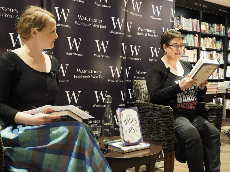 Kaite Welsh - The Wages of Sin debut author interview, Edinburgh launch event