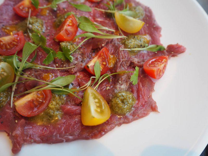 CAU Glasgow restaurant review - #BuenosHeroes campaign - beef CAU-paccio