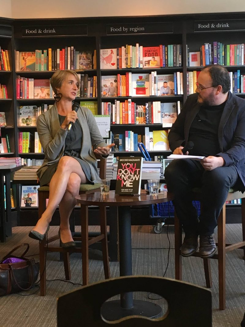 Brooke Magnanti & Russel D McLean, 'You Don't Know Me' book launch, Waterstones, Glasgow July 2017