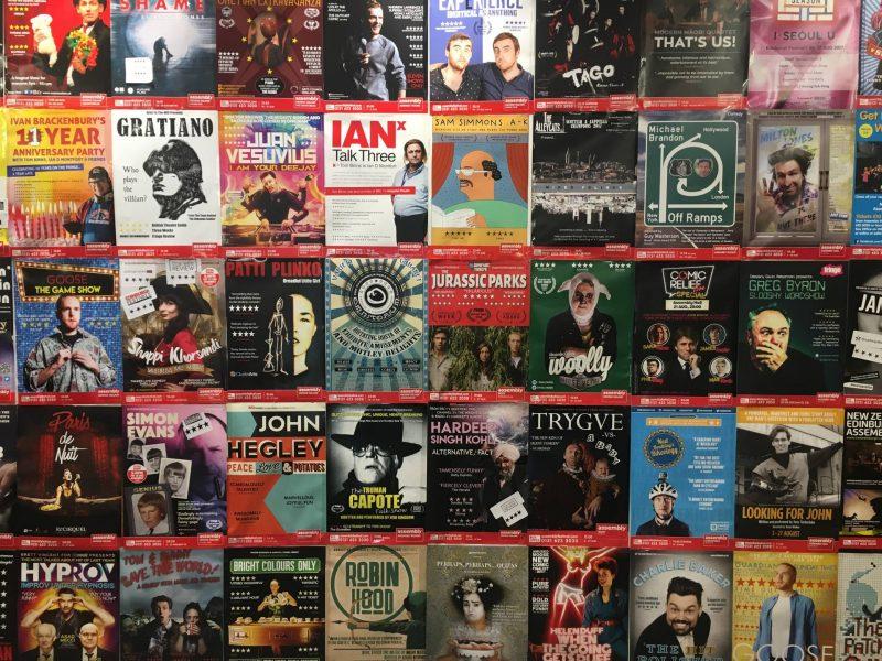 Edinburgh Festival Fringe 2017 - poster wall