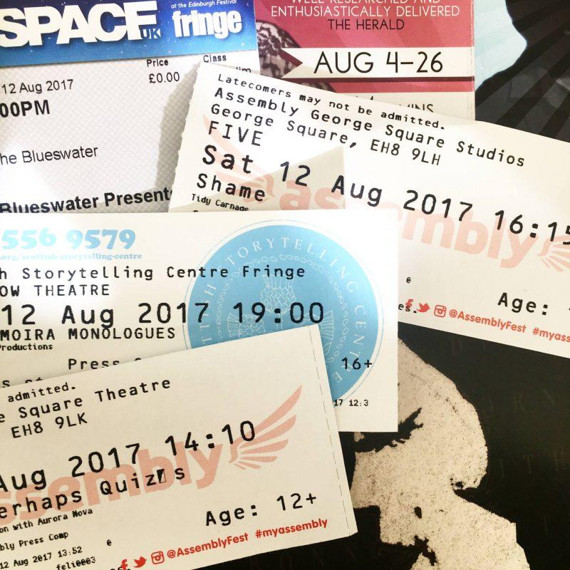 Edinburgh Festival Fringe tickets, August 2017
