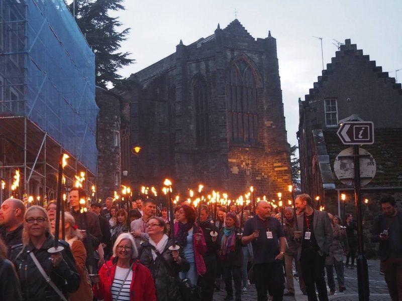 Torchlit procession, Bloody Scotland, Stirling September 2017