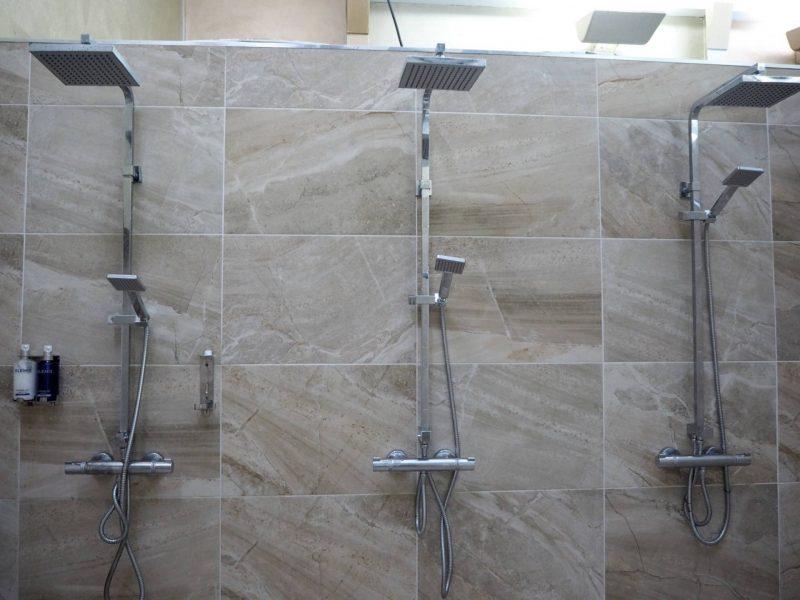 Gleddoch Spa review - poolside showers