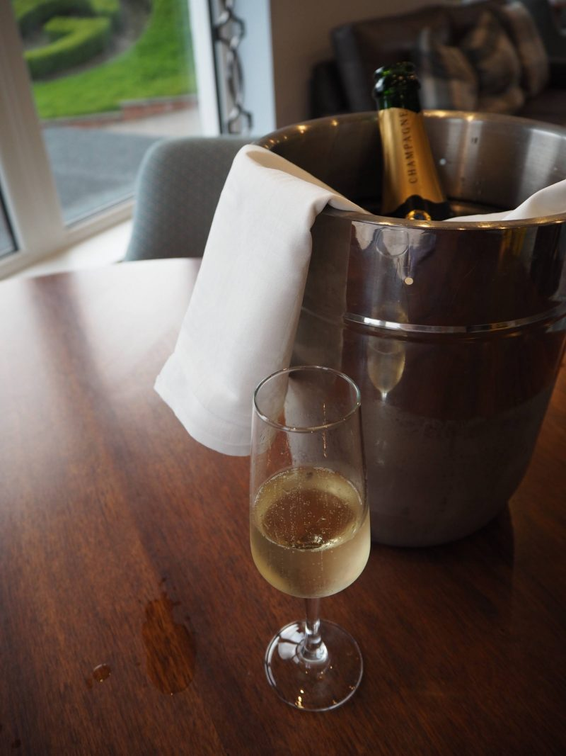 Gleddoch Spa review - champagne for two