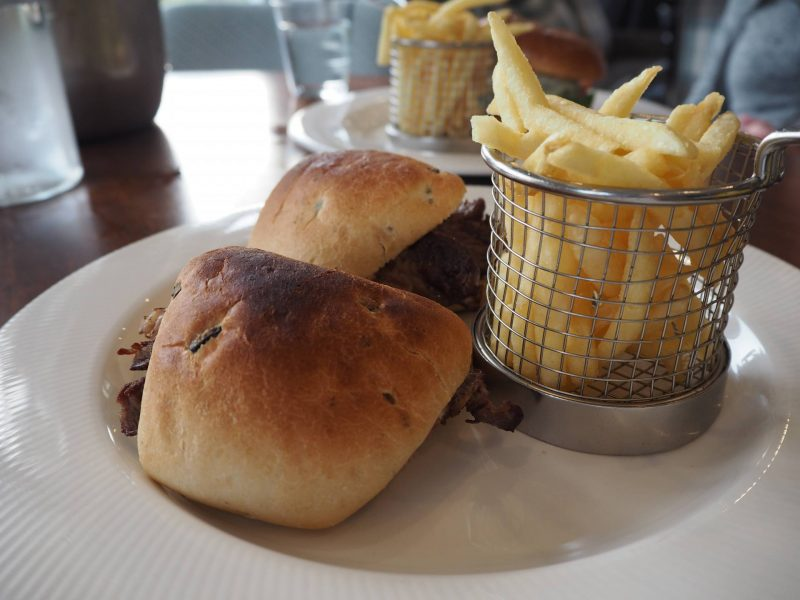 Gleddoch Spa review - steak ciabatta