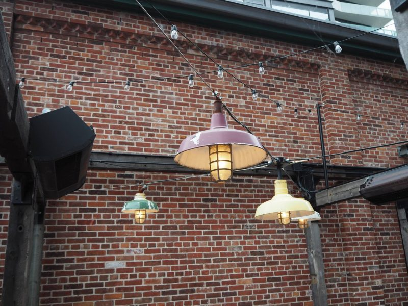 Things to do in Toronto - outdoor eating space in The Distillery District
