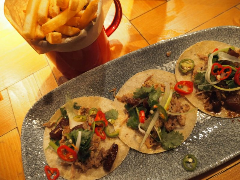 Revolucion de Cuba Glasgow restaurant review - roasted pork tacos
