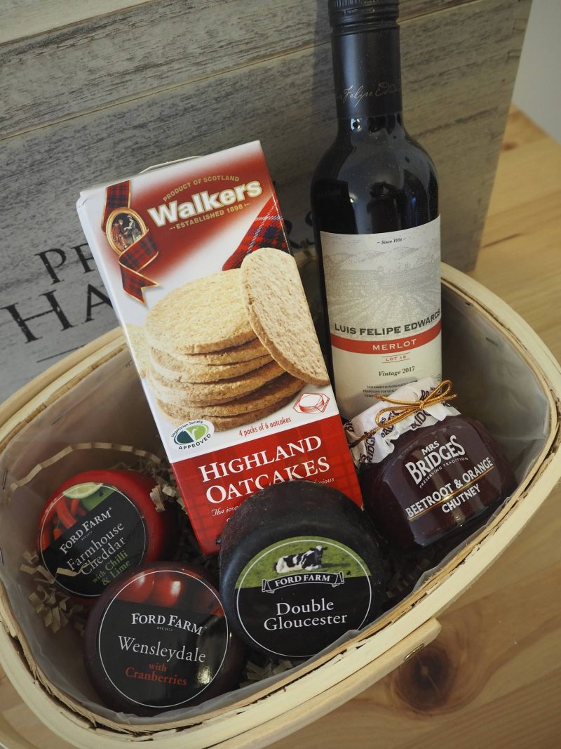 Prestige Hampers wine and cheese basket review