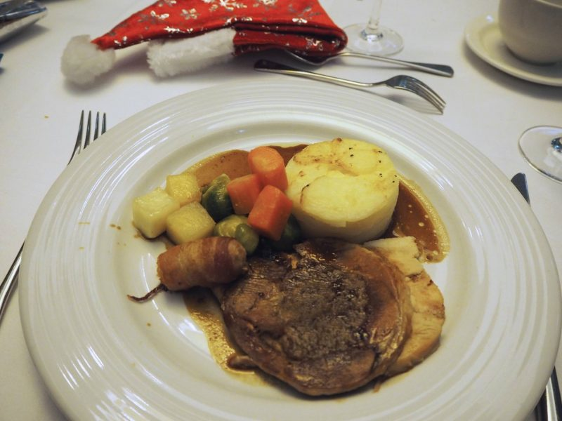 Glasgow restaurant review - Grand Central Hotel at Christmas - turkey dinner with trimmings