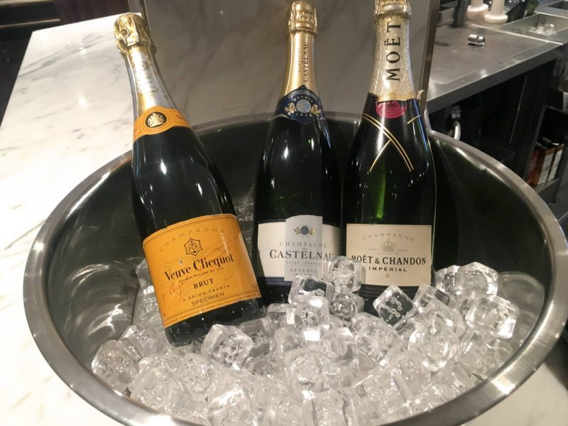 No1 Lounges Gatwick Airport South Terminal - champagne selection