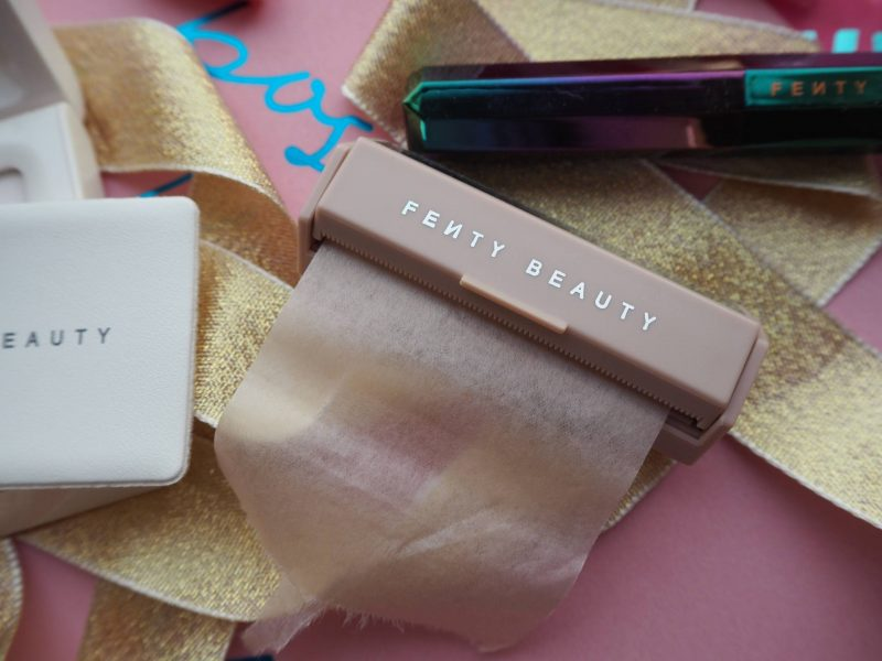 Fenty Beauty office to party makeup products: Invisimatte blotting powder and blotting paper