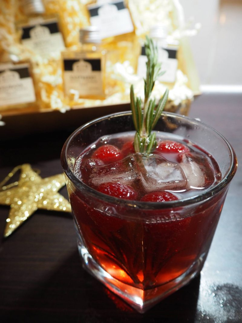 The Gin Bothy - raspberry and rosemary fizzer