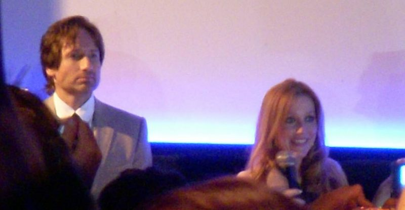 David Duchovny and Gillian Anderson at The X-Files: I Want to Believe fan premiere, Leicester Square, London 2008