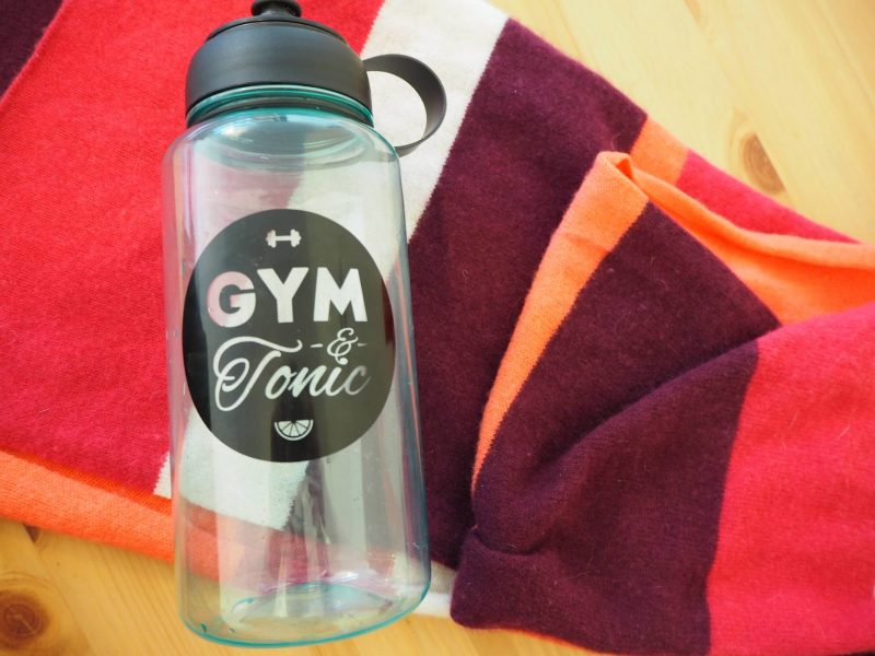 Be your best self: Gym and tonic water bottle