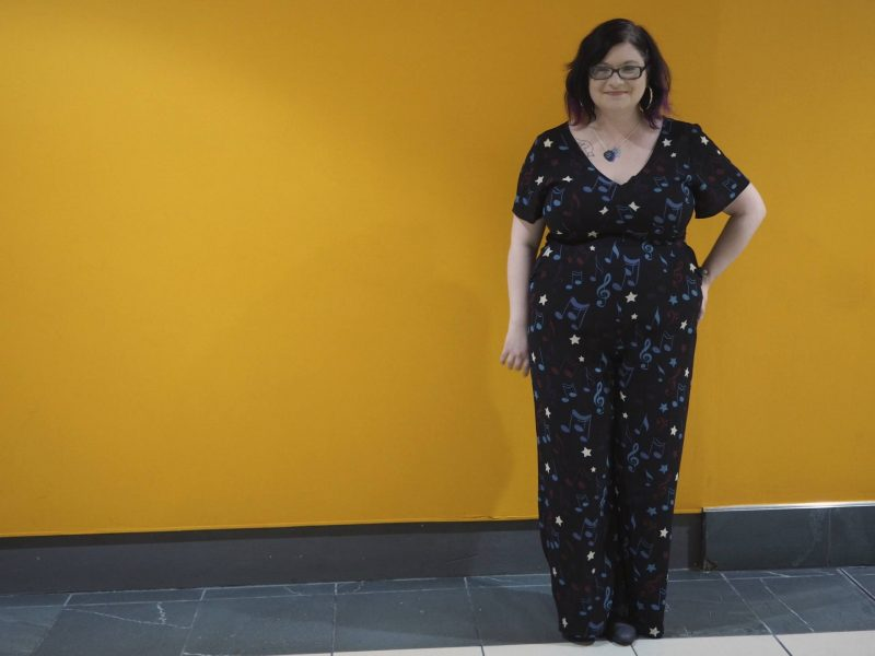 Lis in Jerry Musical Note Print Jumpsuit by Joanie