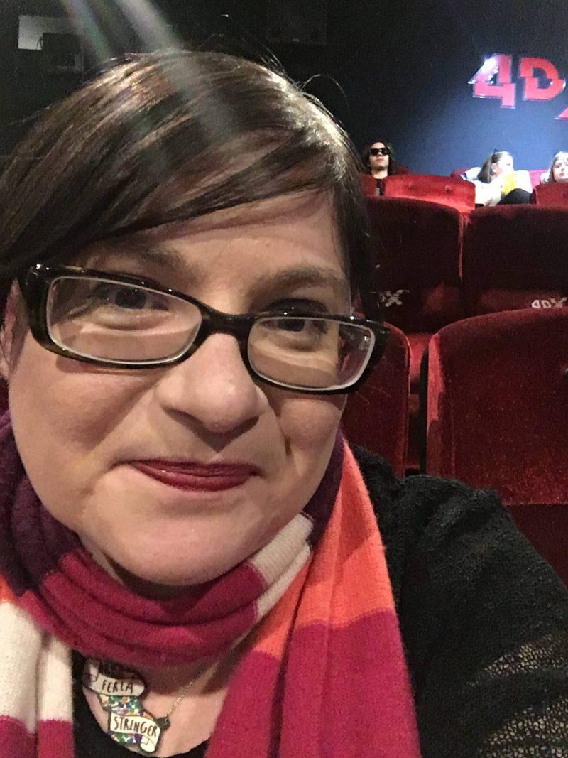 A nervous Lis ready for Cineworld 4DX
