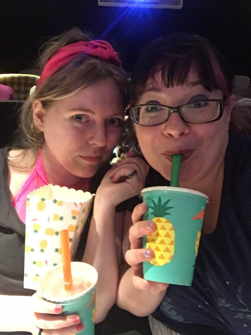 Sarah and Lis at Blythswood Square Hotel private cinema screening room