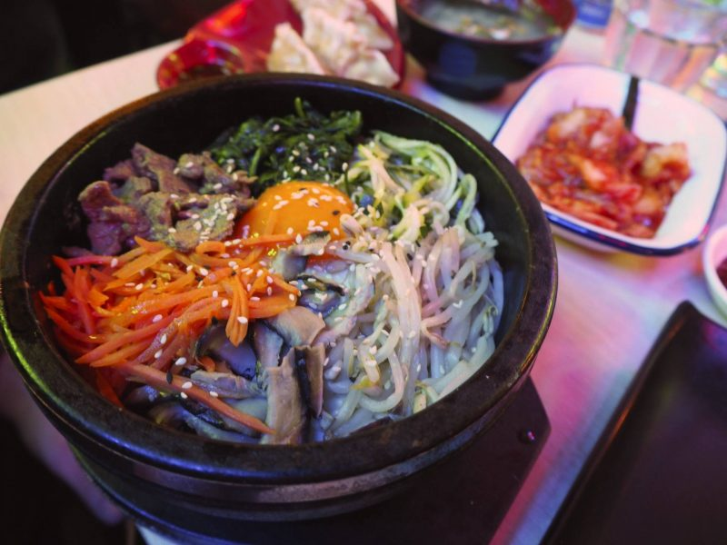 Bibimbap Glasgow Korean restaurant review - bibimbap rice bowl