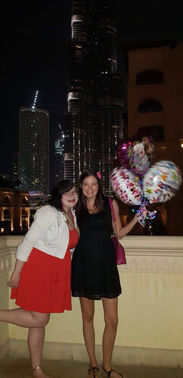 Eesmee and Cha on her birthday in Dubai