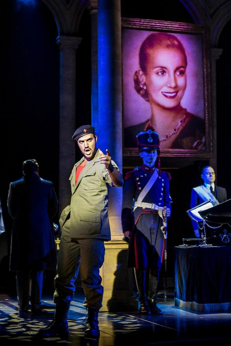 Gian Marco Schiaretti (Che) and Previous Cast - Evita International & UK Tour 2017-18 (c) Pamela Raith Photography-005