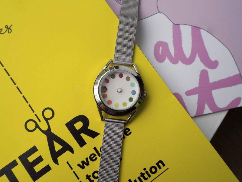 Mr Jones Watches Cyclops rainbow dial designer watch