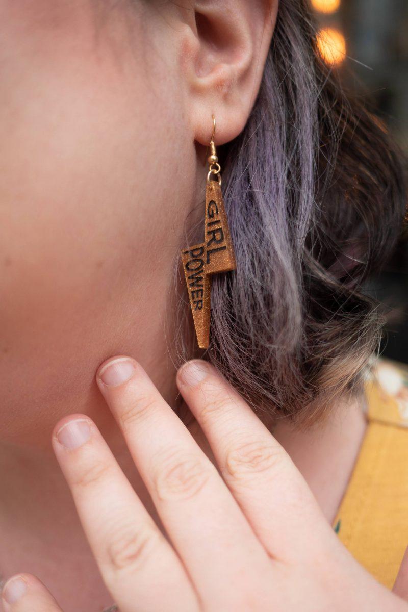 Girl Power Tatty Devine x Fawcett earrings