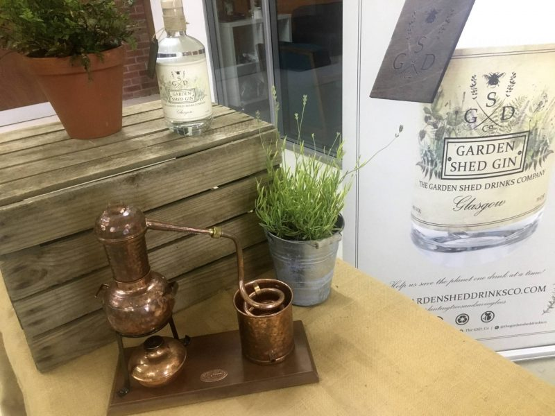 The Garden Shed Gin Co at Craft 56 Scottish craft gin tasting night, Glasgow