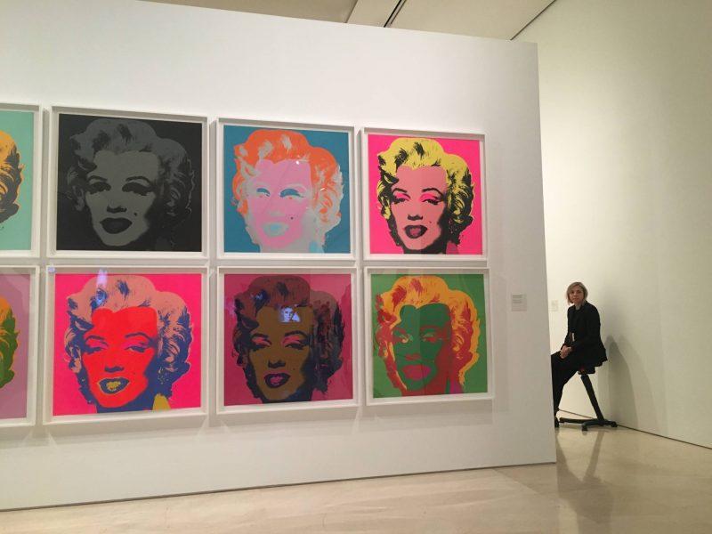 24 hours in Malaga - Marilyn Monroe screen prints by Andy Warhol at Warhol. Mechanical Art at Museo Picasso Malaga, July 2018