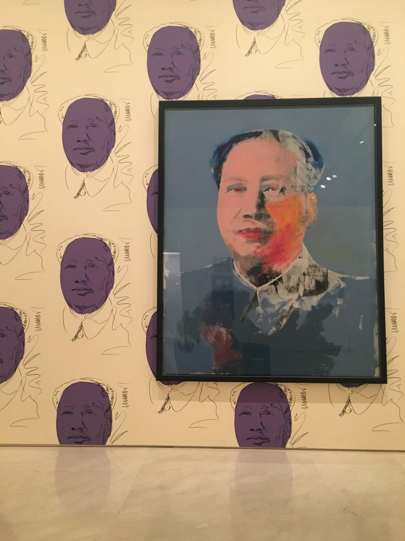 24 hours in Malaga - Mao by Andy Warhol at Warhol. Mechanical Art at Museo Picasso Malaga, July 2018
