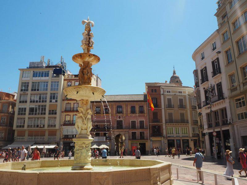 Day trip to Malaga, Spain: Plaza de la Constitucion