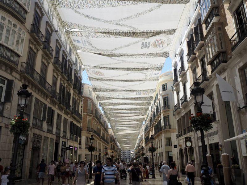 24 hours in Malaga - covered shopping arcade, Plaza de la Constitucion