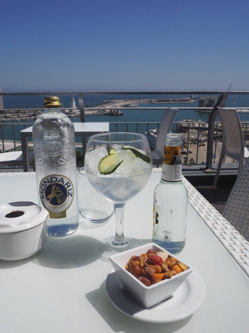 24 hours in Malaga - gin with a view at Hotel AC Malaga Palacio