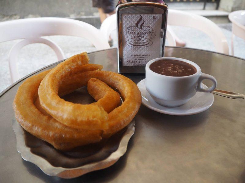 24 hours in Malaga - churros con chocolate at Casa Aranda