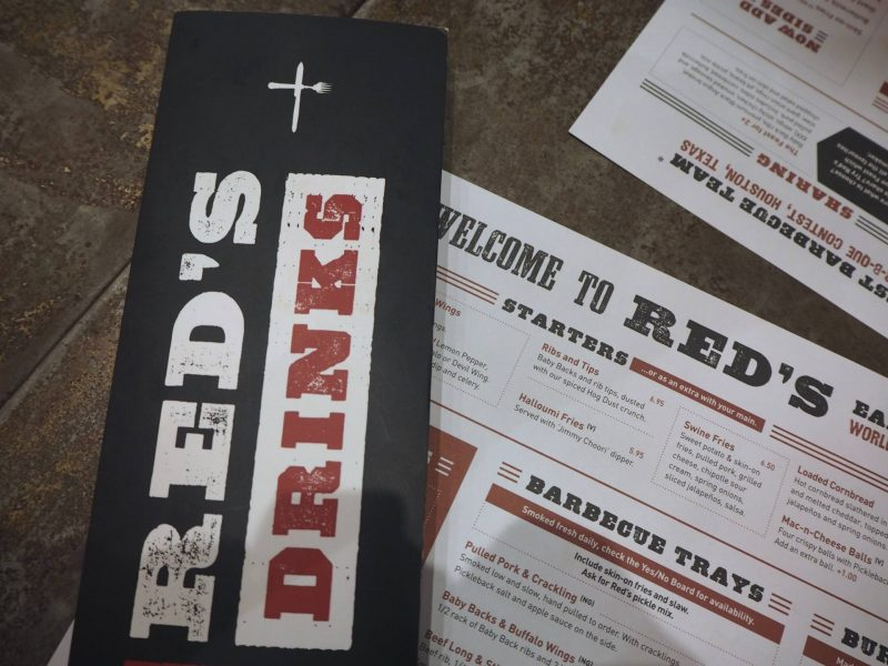 Red's True Barbecue Newcastle review - menus