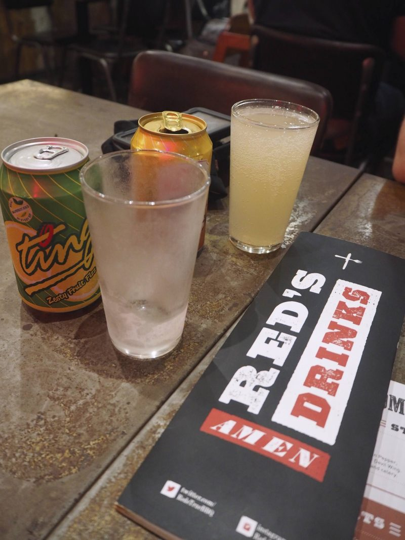 Red's True Barbecue, Newcastle - cold soft drinks and menu