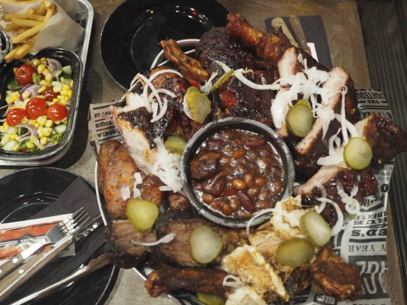 Red's True Barbecue Newcastle review - The Feast meat platter
