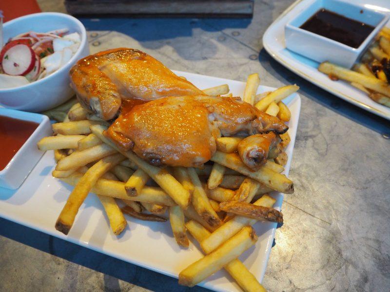 Revolution Mitchell Street Glasgow restaurant review: half glazed chicken with Sriracha sauce