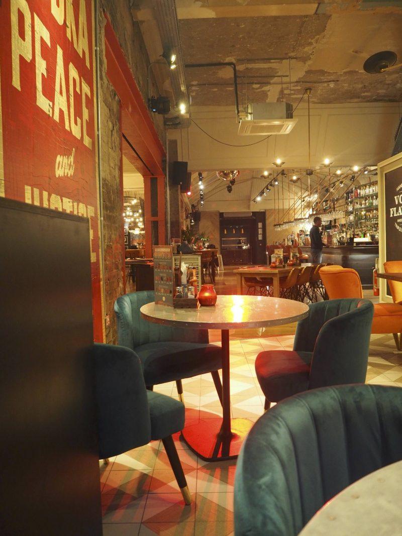 Revolution Mitchell Street Glasgow restaurant review - interior