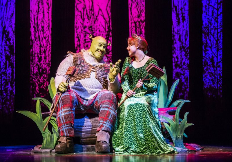 Steffan-Harri-and-Amelia-Lily-in-Shrek-the-Musical-UK-and-Ireland-tour-2018.-Credit-Tristram-Kenton.-3