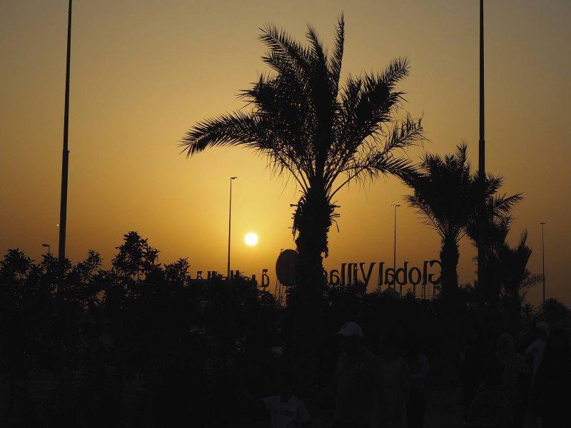 Sunset over Global Village, Dubai, April 2017