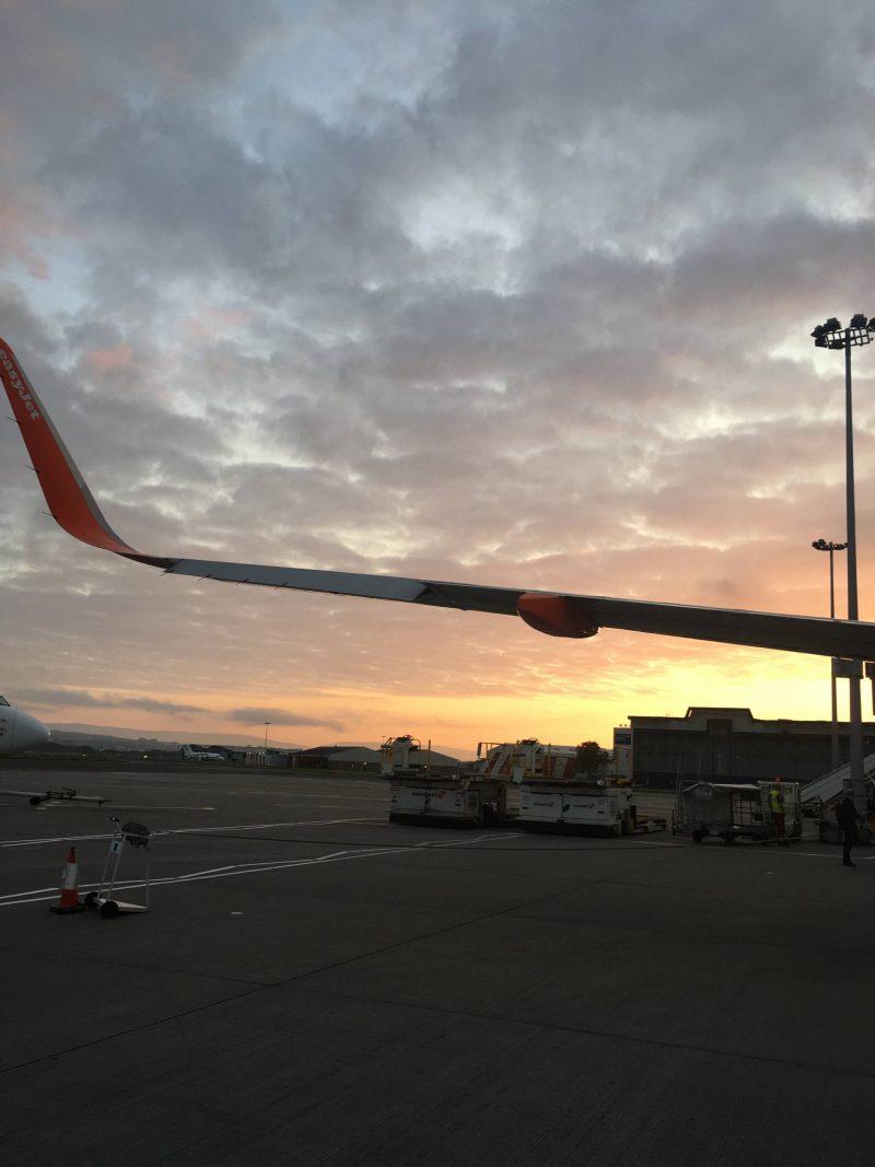Glasgow airport at sunrise, September 2018