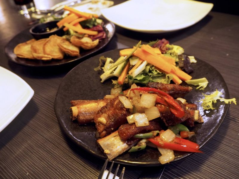 Lychee Oriental Glasgow Chinese restaurant review - salt and chilli spare ribs