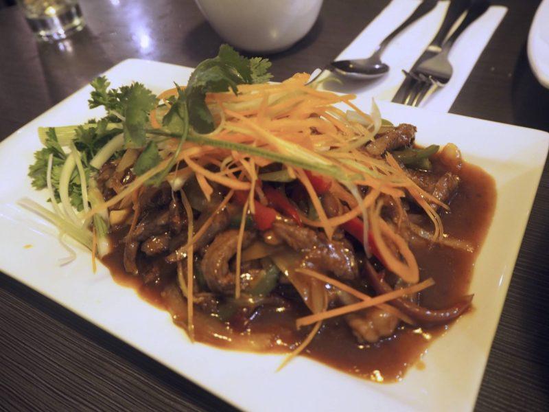 Lychee Oriental Glasgow Chinese restaurant review - Thai chilli extra mature ribeye beef