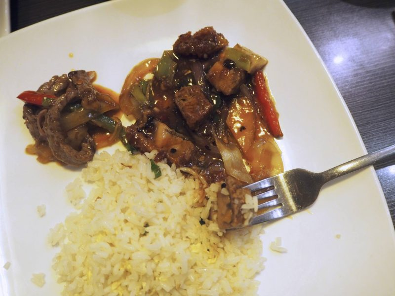 Lychee Oriental Glasgow Chinese restaurant review - mixed main courses