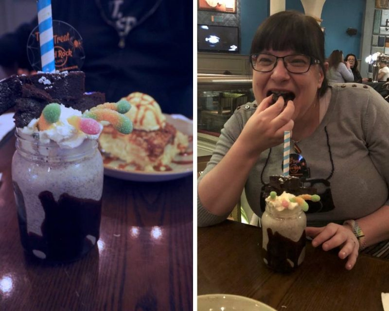 Hard Rock Cafe Glasgow restaurant review - freakshakes and dessert