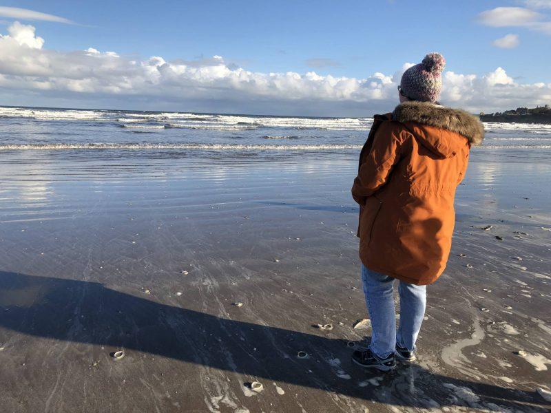 #ccwbloggerroadtrip A/W18: St Andrews beach in Didriksons coat